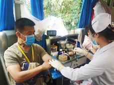 为生命加油 160余名一心堂药业员工撸起袖子献热血