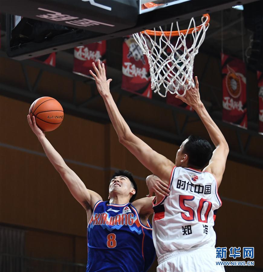 (Sports) (3) Basketball-CBA Phase One: Xinjiang Yili Te wins the era, Guangzhou, China